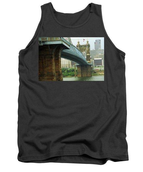 Cincinnati - Roebling Bridge 2 Tank Top by Frank Romeo