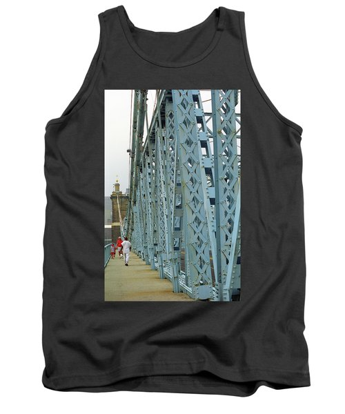 Cincinnati - Roebling Bridge 3 Tank Top by Frank Romeo