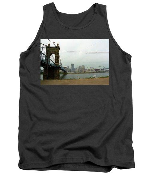 Cincinnati - Roebling Bridge 7 Tank Top by Frank Romeo
