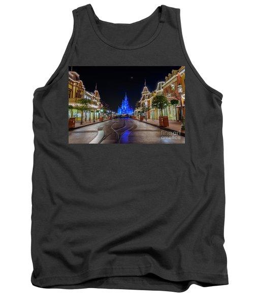 Cinderella Castle Glow Over Main Street Usa Tank Top