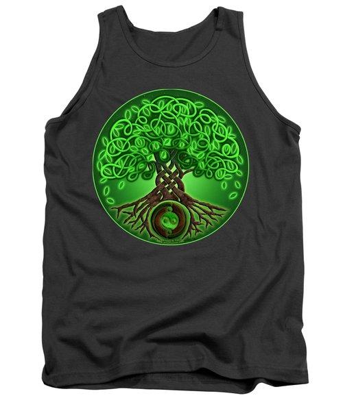 Circle Celtic Tree Of Life Tank Top by Kristen Fox
