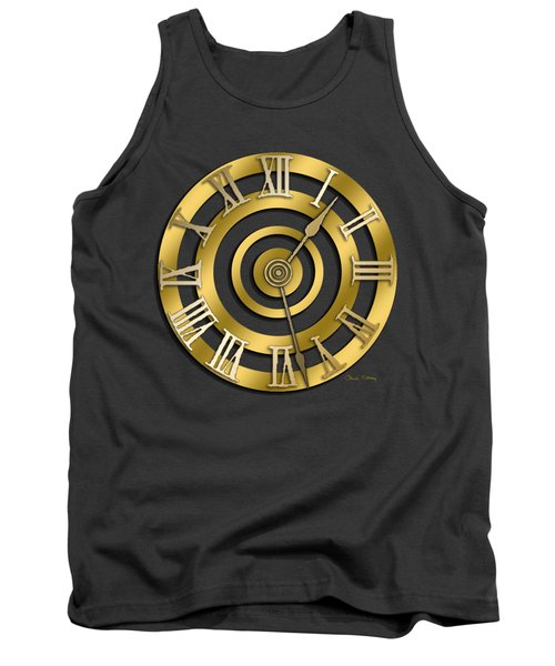 Circular Clock Design Tank Top