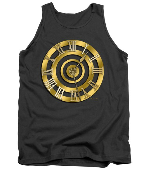 Circular Clock Design Tank Top by Chuck Staley