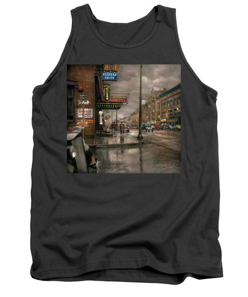 City - Amsterdam Ny -  Call 666 For Taxi 1941 Tank Top