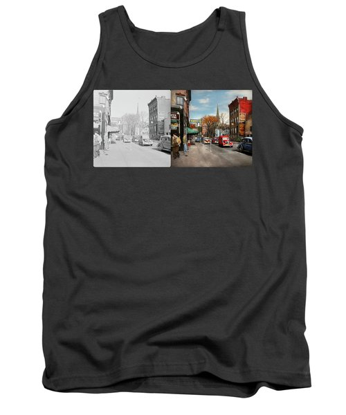 City - Amsterdam Ny - Downtown Amsterdam 1941- Side By Side Tank Top by Mike Savad