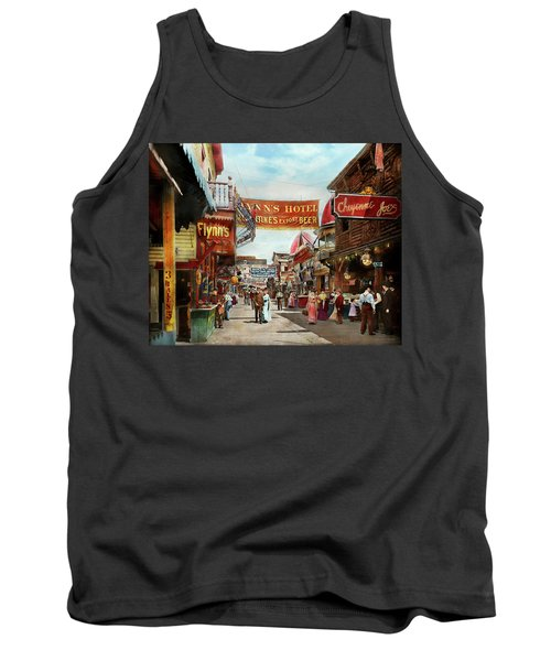 Tank Top featuring the photograph City - Coney Island Ny - Bowery Beer 1903 by Mike Savad