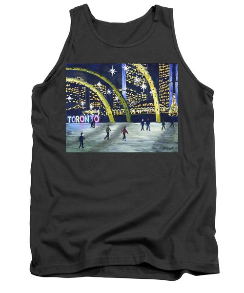 City Hall Christmas Tank Top by Diane Arlitt
