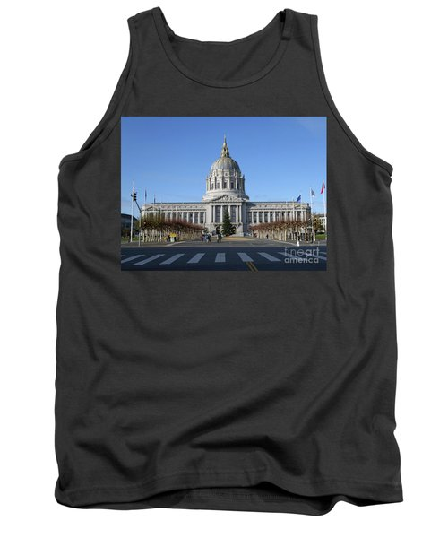 Tank Top featuring the photograph City Hall by Steven Spak