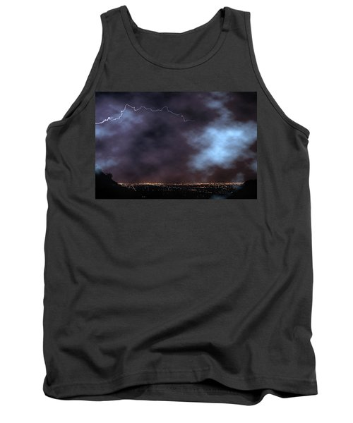 Tank Top featuring the photograph City Lights Night Strike by James BO Insogna