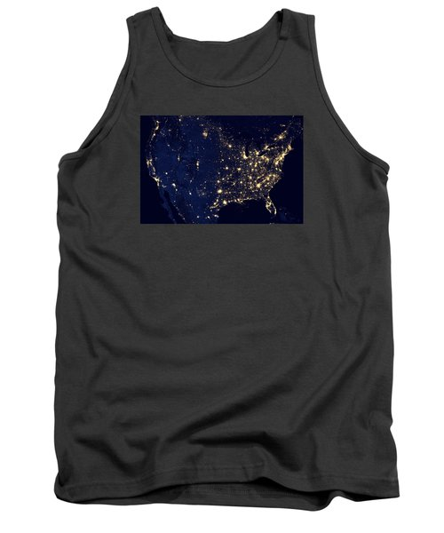 City Lights Of The United States Tank Top