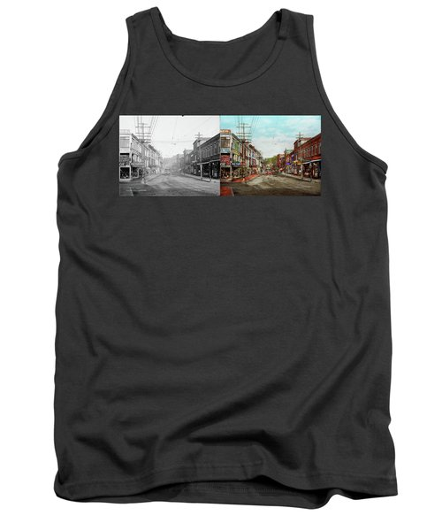 Tank Top featuring the photograph City - Ma Glouster - A Little Bit Of Everything 1910 - Side By Side by Mike Savad