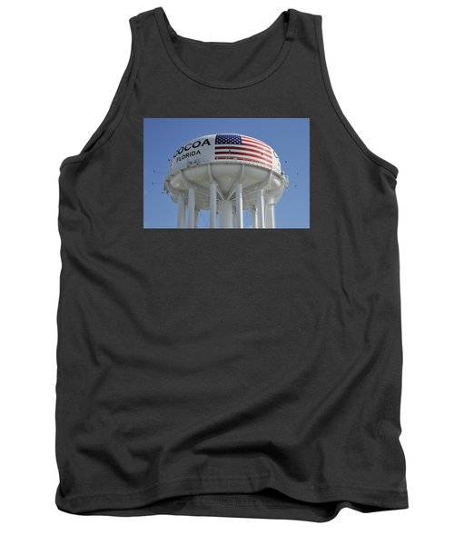 Tank Top featuring the photograph City Of Cocoa Water Tower by Bradford Martin