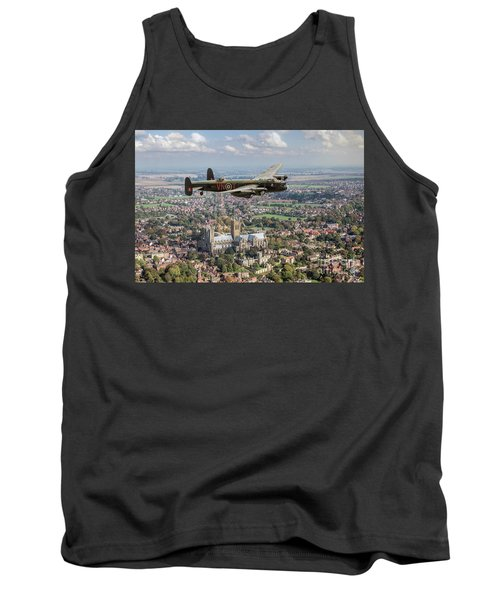 Tank Top featuring the photograph City Of Lincoln Vn-t Over The City Of Lincoln by Gary Eason