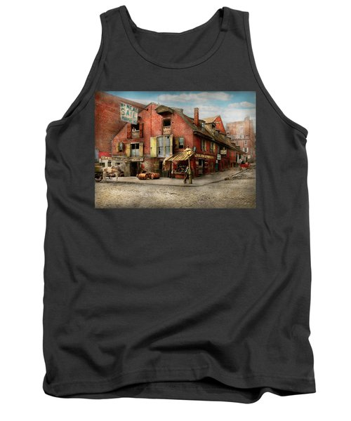 Tank Top featuring the photograph City - Pa - Fish And Provisions 1898 by Mike Savad