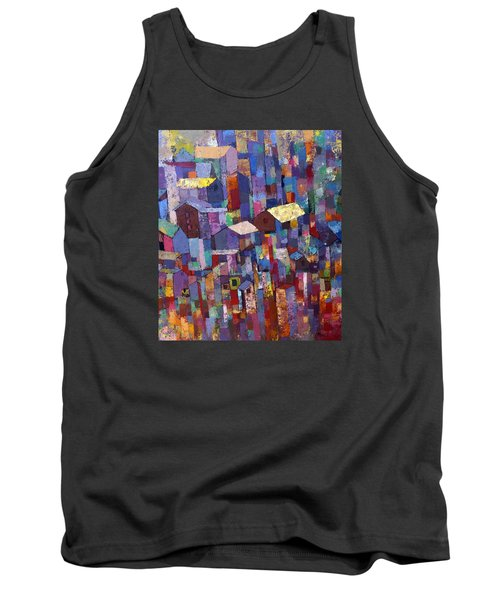 City Scape 1 Tank Top by Ronex Ahimbisibwe