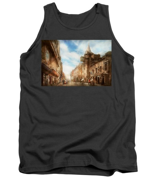 Tank Top featuring the photograph City - Scotland - Tolbooth Operator 1865 by Mike Savad