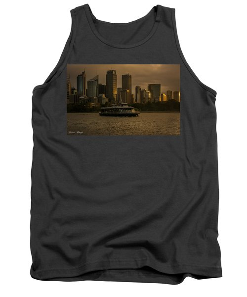 Tank Top featuring the photograph City Skyline  by Andrew Matwijec