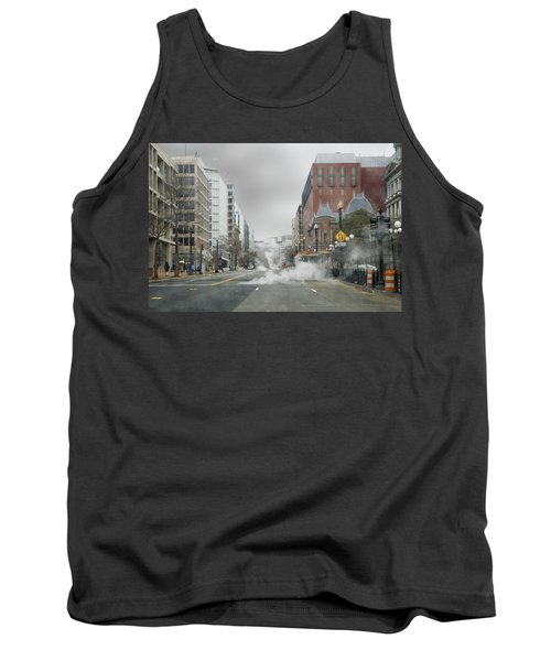 Tank Top featuring the photograph City Street On A Rainy Day by Francesa Miller