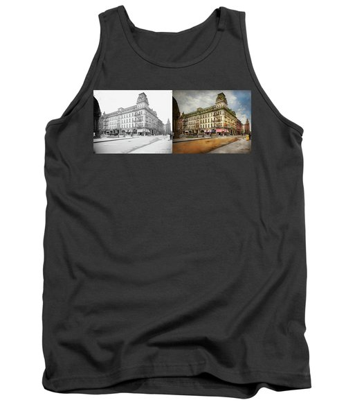 Tank Top featuring the photograph City - Toledo Oh - Got A Boody Call 1910 - Side By Side by Mike Savad