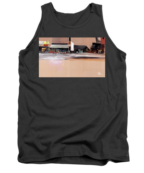 Tank Top featuring the painting Cityscape 3 by Anil Nene