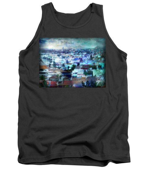 Tank Top featuring the photograph Cityscape #41 - Blue Whispers by Alfredo Gonzalez