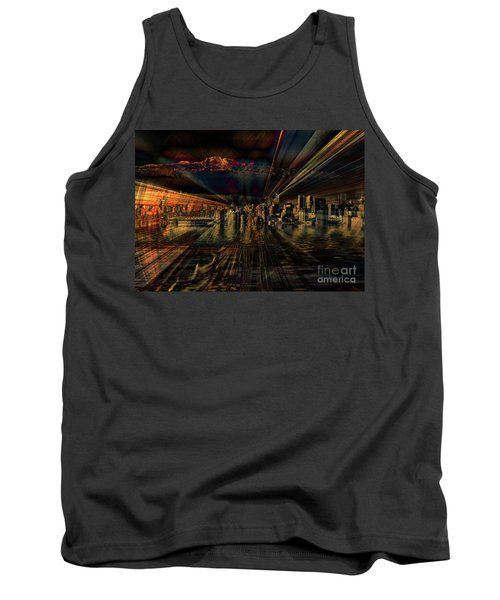 Cityscape Tank Top by Elaine Hunter