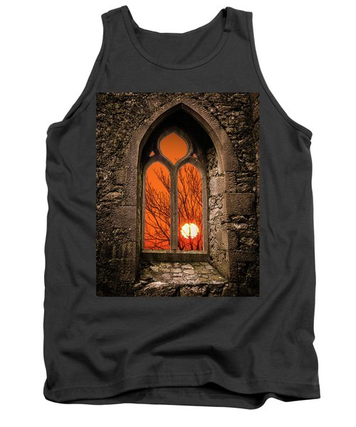 Tank Top featuring the photograph Clare Abbey Sunrise by James Truett