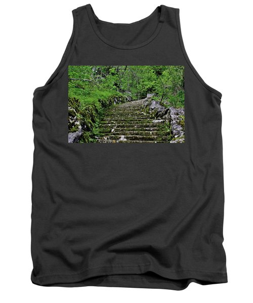 Tank Top featuring the photograph Clark Reservation  by Suzanne Stout
