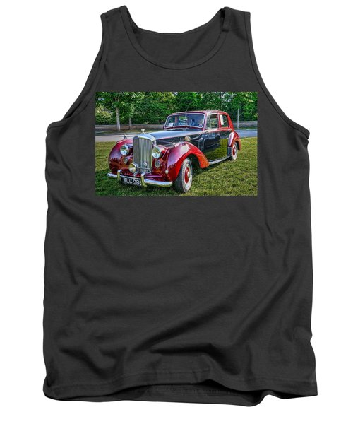 Classic Bentley In Red Tank Top