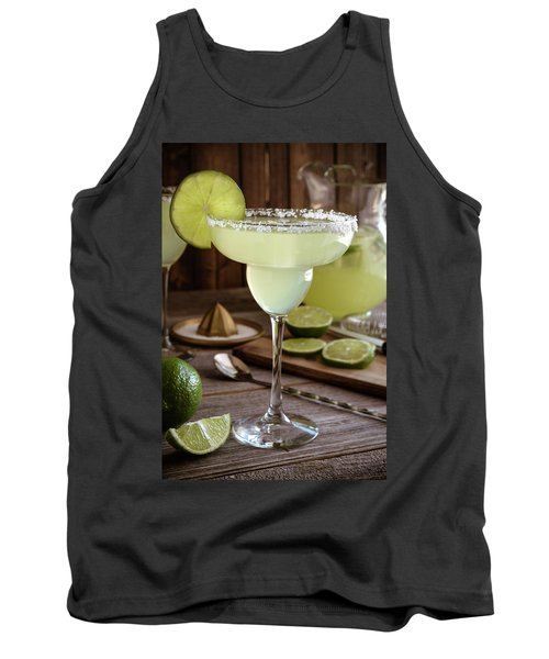 Tank Top featuring the photograph Classic Lime Margaritas On The Rocks by Teri Virbickis