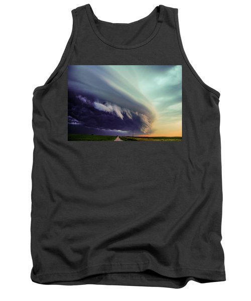 Classic Nebraska Shelf Cloud 027 Tank Top