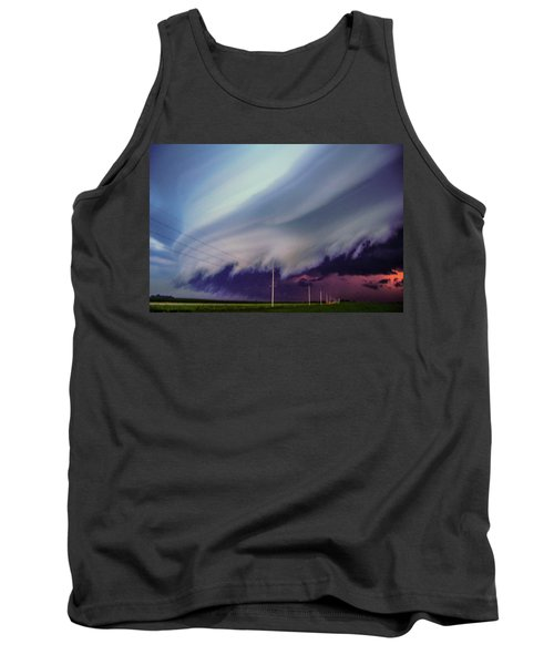Classic Nebraska Shelf Cloud 028 Tank Top