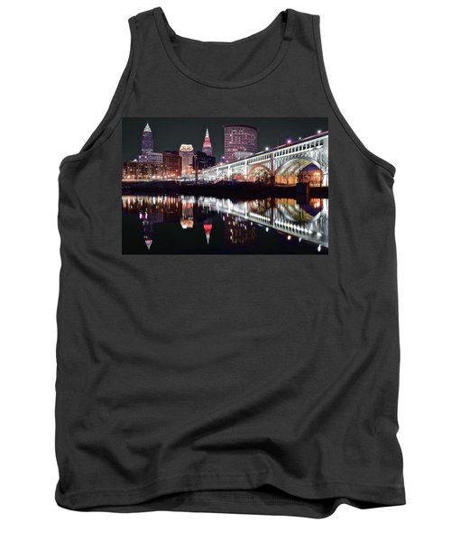 Tank Top featuring the photograph Cle In Selective Color by Frozen in Time Fine Art Photography