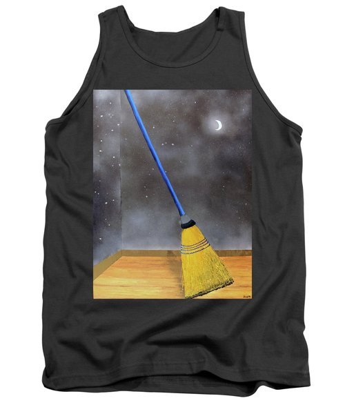 Cleaning Out The Universe Tank Top by Thomas Blood