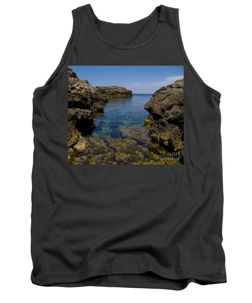 Clear Water Of Mallorca Tank Top by Anastasy Yarmolovich