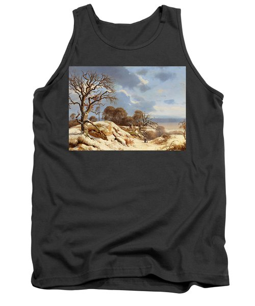 Clear Winter's Day By The Baltic Sea Tank Top