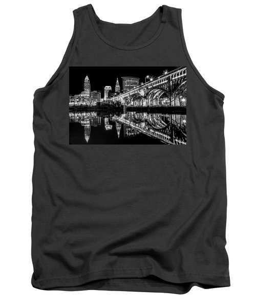 Tank Top featuring the photograph Cleveland After Dark by Brent Durken