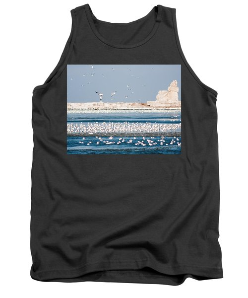 Cleveland Lighthouse In Ice  Tank Top