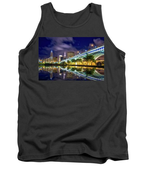 Tank Top featuring the photograph Cleveland Skyline 4 by Emmanuel Panagiotakis