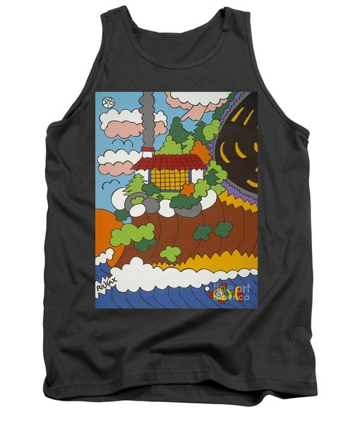 Cliff House Over Ocean Tank Top