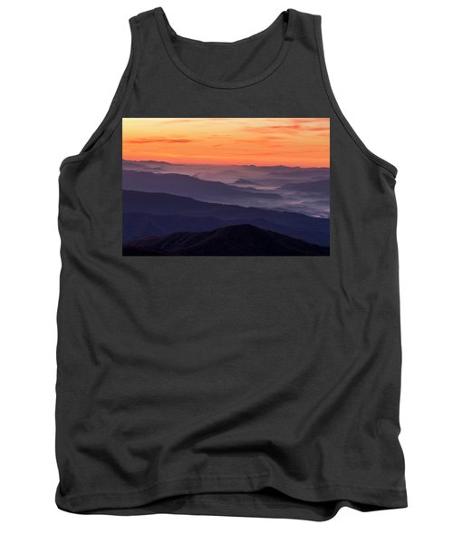 Clingmans Dome Fall Sunrise Tank Top