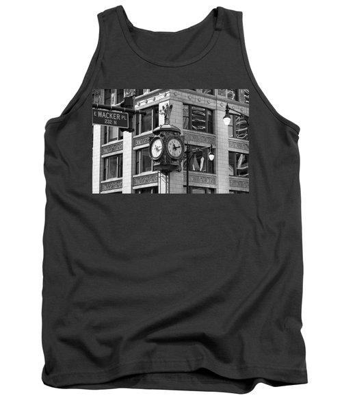 Clock On Jewelers Building - Chicago Tank Top