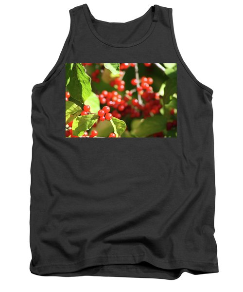 Close Up Of Red Berries Tank Top by Michele Wilson