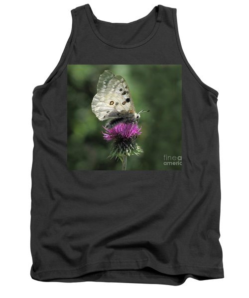 Clouded Apollo Butterfly Tank Top by Jacqi Elmslie