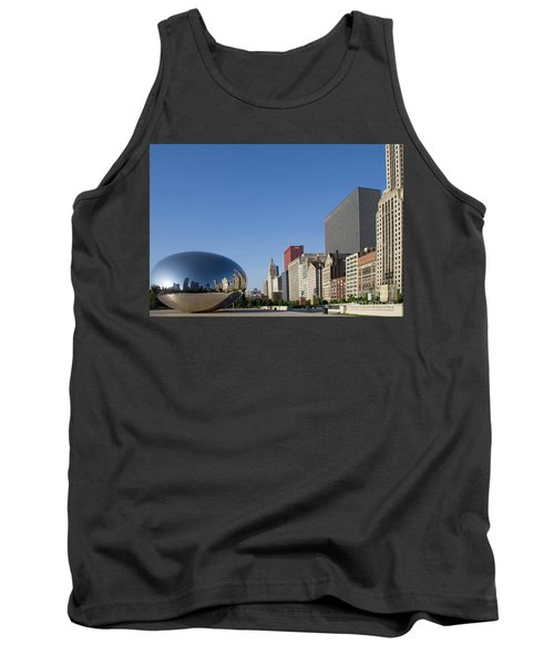 Cloudgate Reflects Michigan Avenue  Tank Top