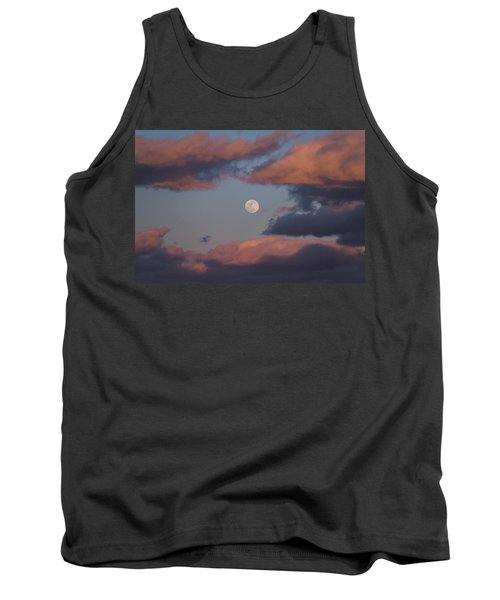 Tank Top featuring the photograph Clouds And Moon March 2017 by Terry DeLuco