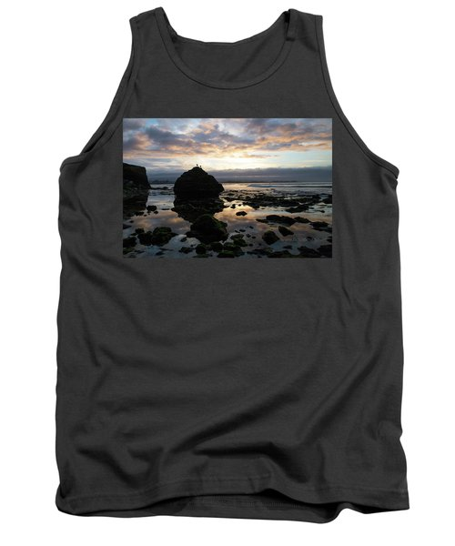 Tank Top featuring the photograph Clouds In The Sea by Lora Lee Chapman