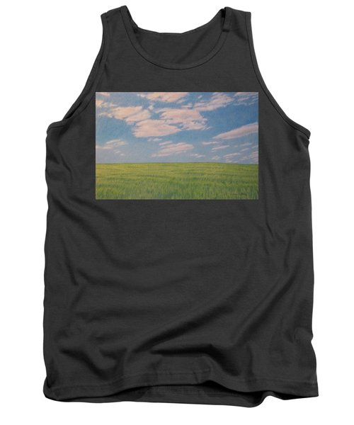 Clouds Over Green Field Tank Top