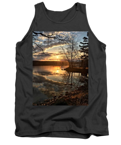 Clouds, Reflection And Sunset  Tank Top by Betty Pauwels