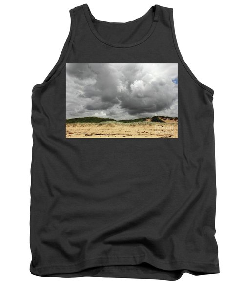 Tank Top featuring the photograph Cloudy Beach II By Kaye Menner by Kaye Menner